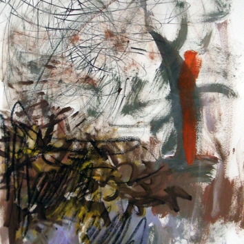 20 in x 30 in Acrylic and charcoal on paper 2012