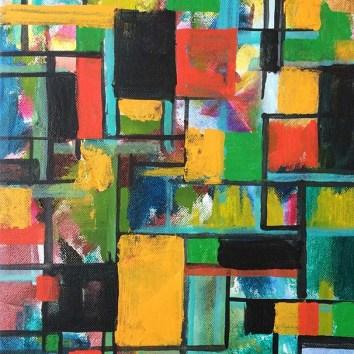 "Untiled 56/Acrylic on Canvas/11""x14"""