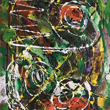 "Untiled 68/Acrylic on Canvas/30""x40"""